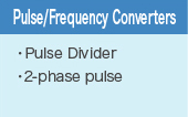 Pulse/Frequency Converters
